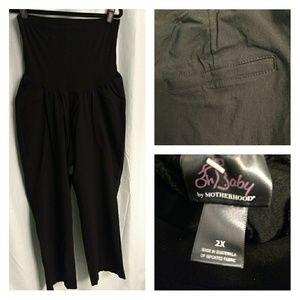 OhBaby Motherhood Maternity Stretch Black Pants 2X